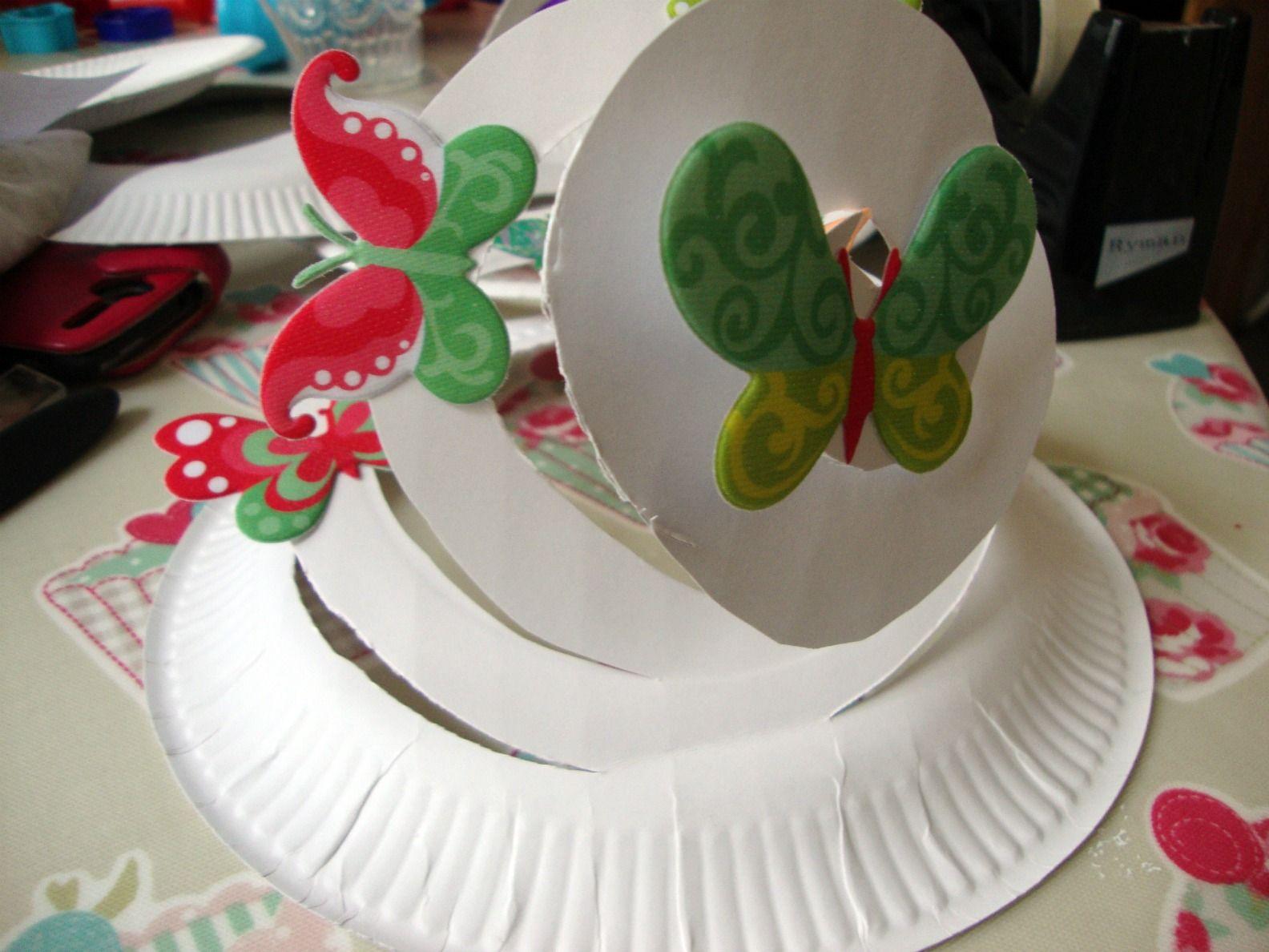 Spiral-y paper plate hat! & Spiral-y paper plate hat! | Kid stuff | Pinterest | Easter Paper ...