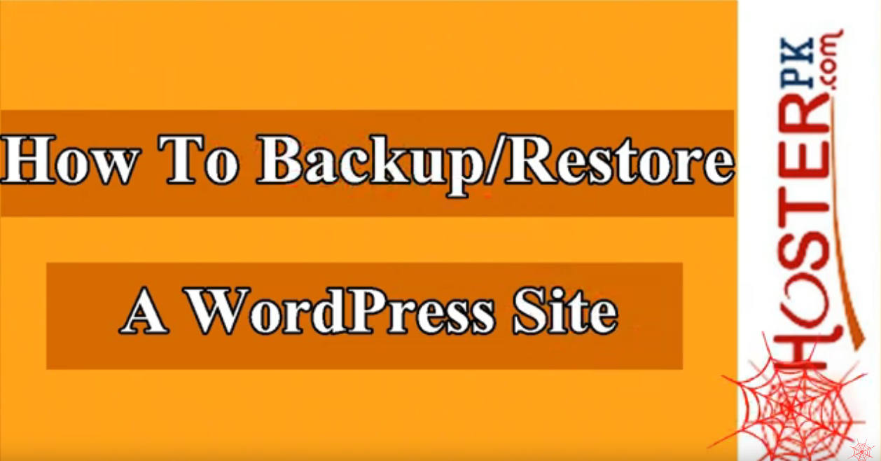 How to backup and restore a WordPress site with Hosterpk