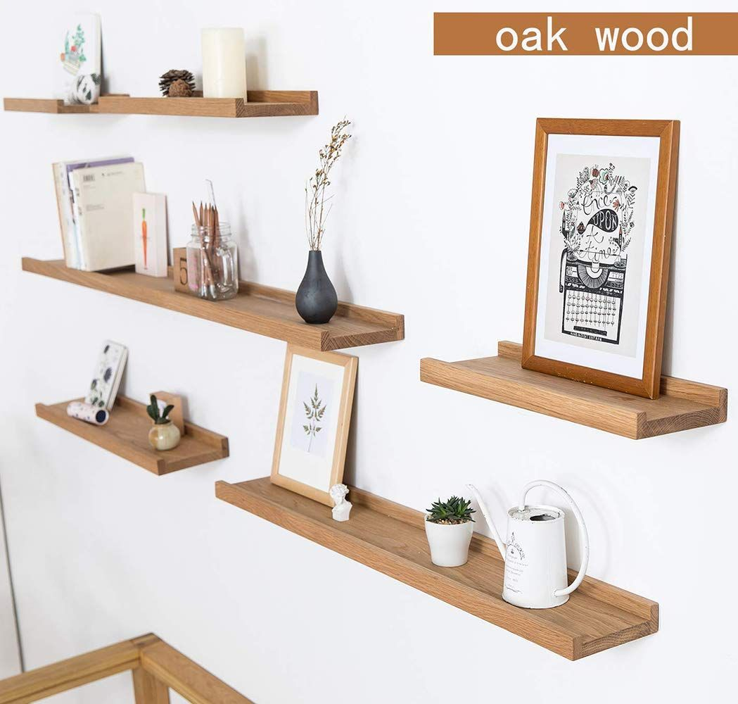 Inman Home 36 Rustic Solid Oak Timber Block Floating Shelf Wall Wooden Concealed Bracket Wall Moun Floating Shelves Wall Mounted Shelves Wood Floating Shelves