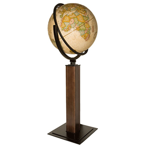One of Ultimate Globes TOP SELLING Globes!!  Landen Globe!  Such a beautifully crafted piece of art!  Sure to please even the most distinguished tastes of your Dads! #ultimateglobes.com