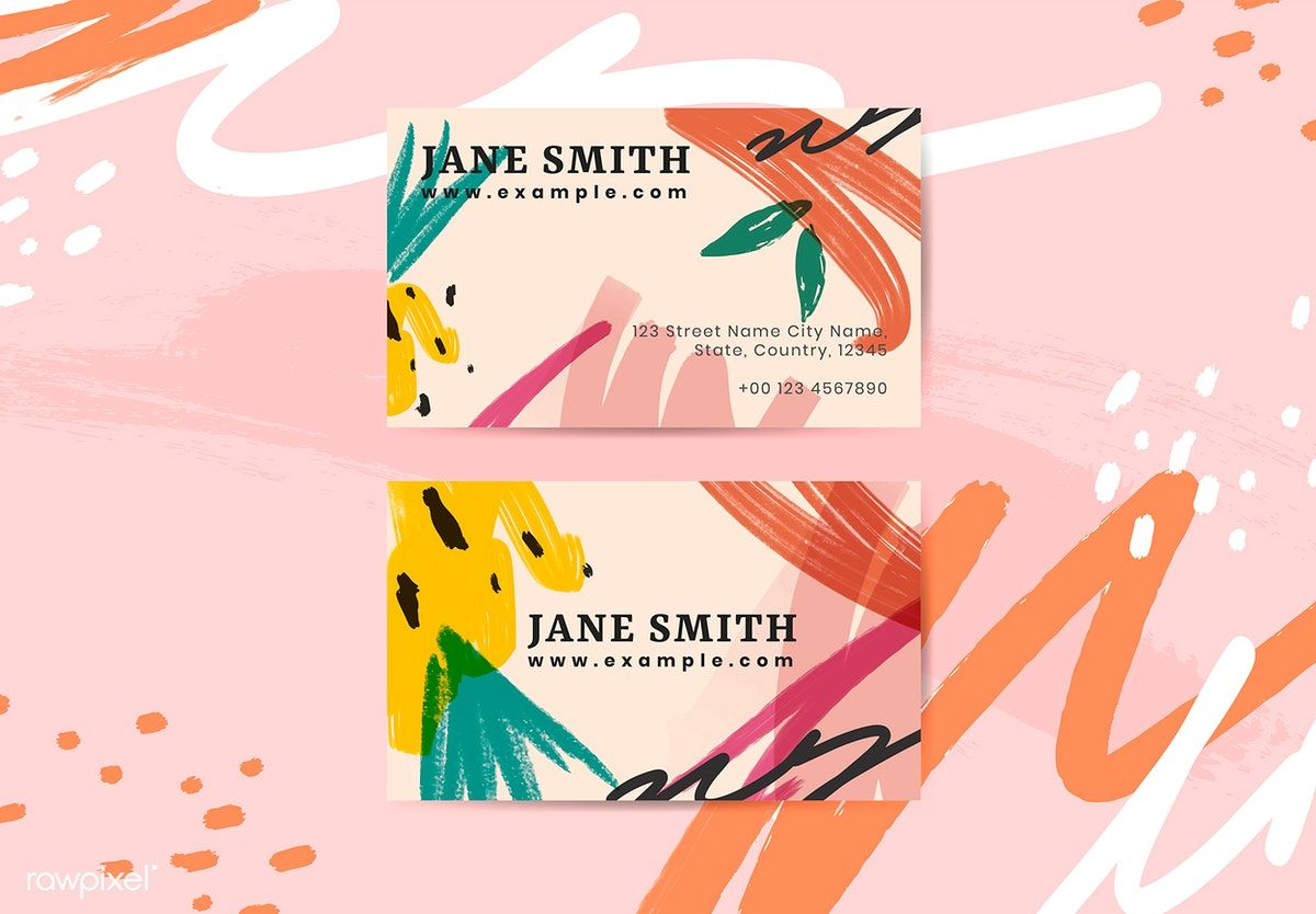 Colorful name card design vector free image by rawpixel