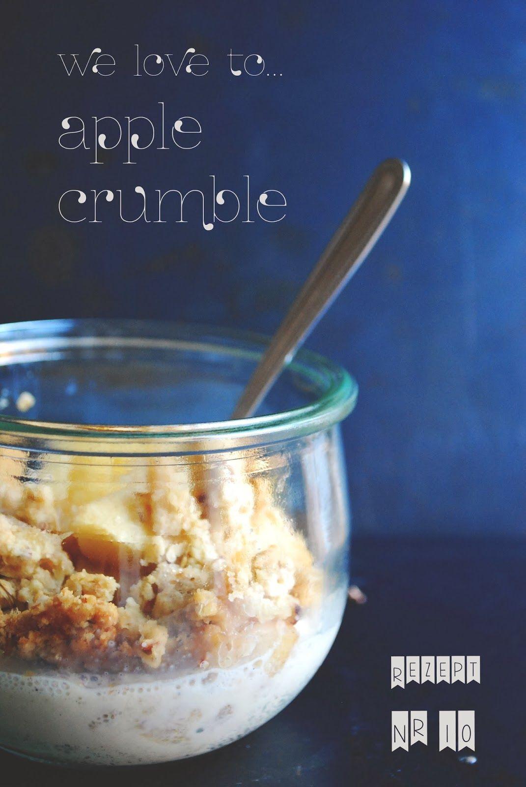 love to crumble: apple crumble