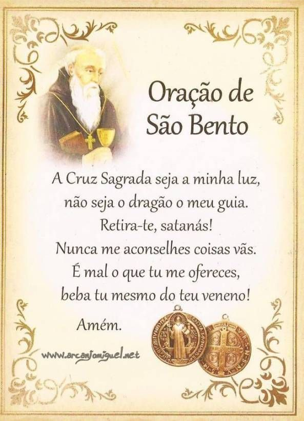 Oração São Bento.