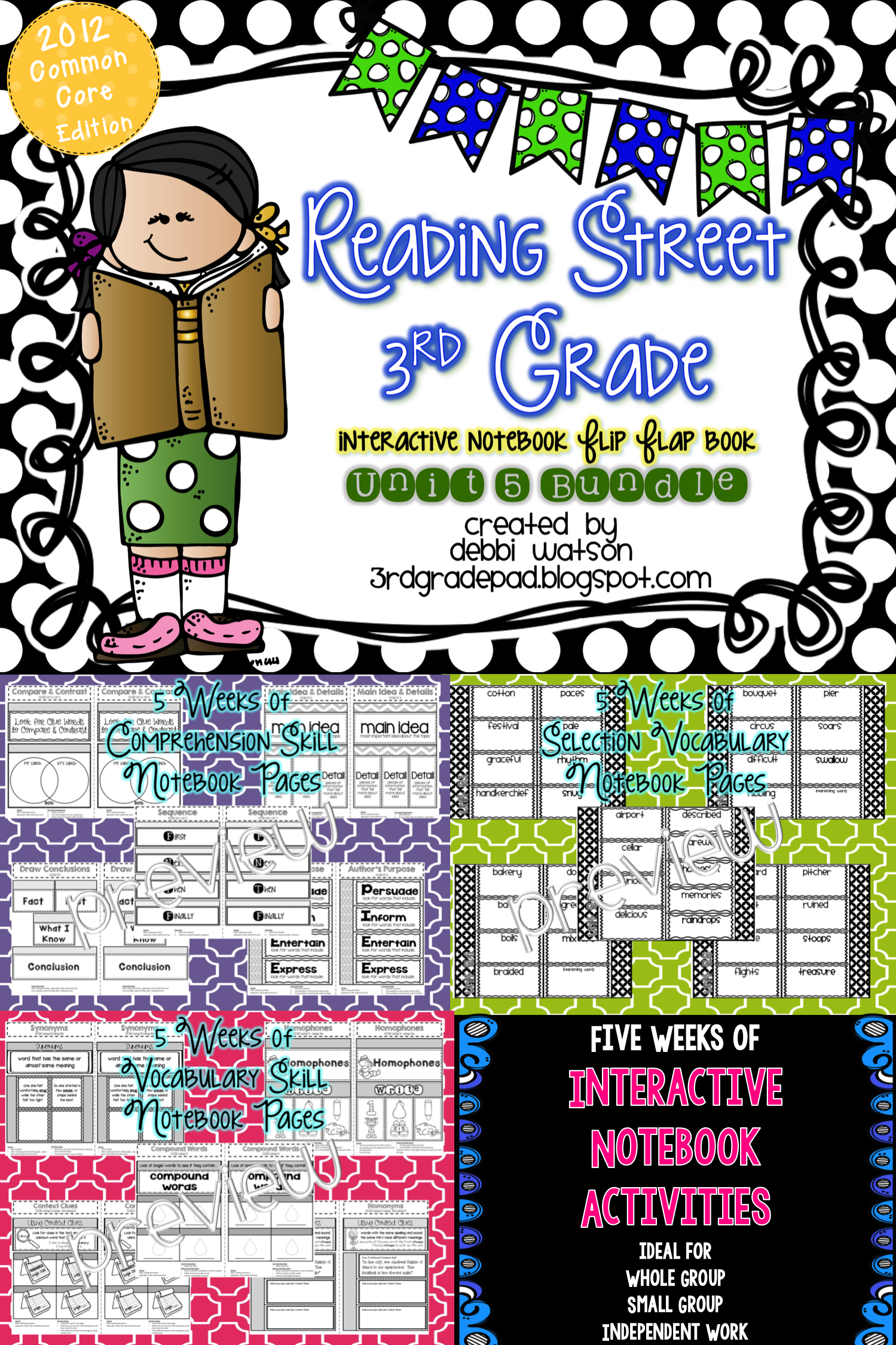 Reading Street 3rd Grade Interactive Notebook Unit 5