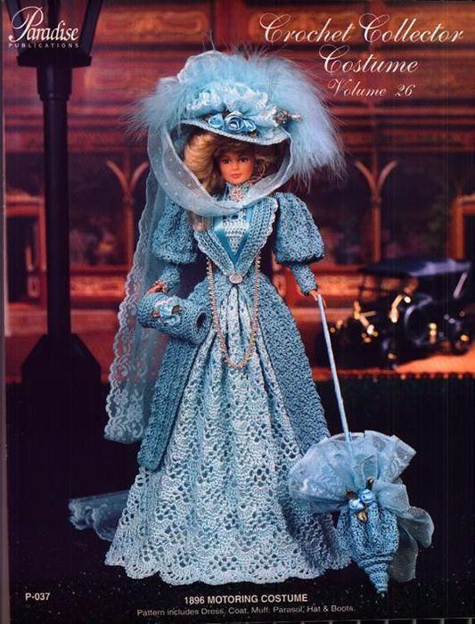 Вязание крючком шляпка для куклы 5