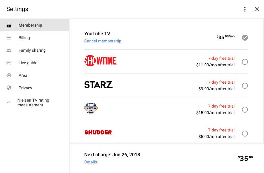 Starz is Now on YouTube TV, Costs 9/Month After 7 Day