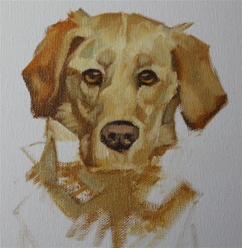 """Daily+Paintworks+-+""""Rescue+Dog""""+-+Original+Fine+Art+for+Sale+-+©+Susan+Ashmore"""