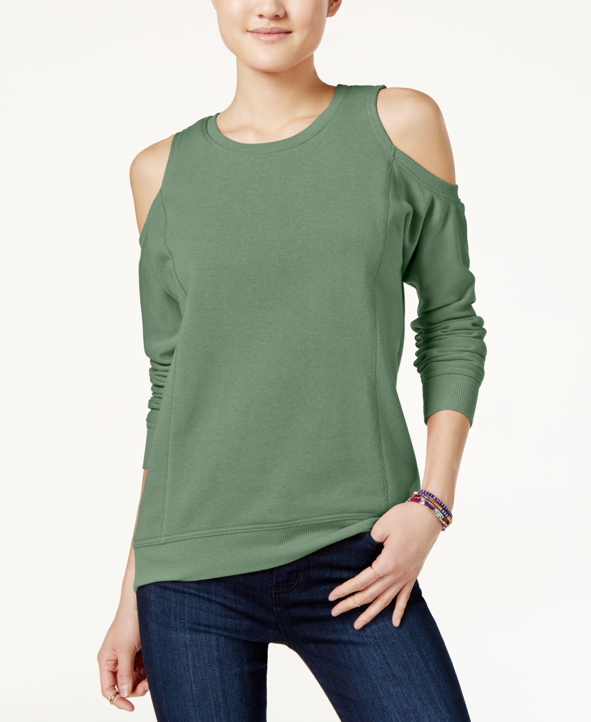 Ultra Flirt Juniors Cold-Shoulder Sweatshirt
