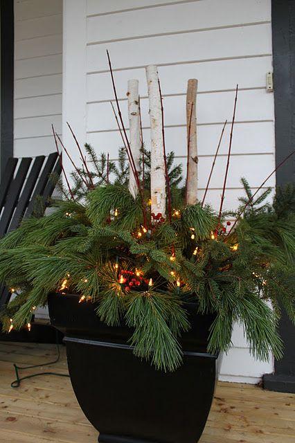 Outdoor Christmas Planters With Lights.Pin On Seasons