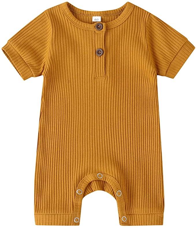 Kuriozud Unisex Baby Boy Girl Zipper Romper Jumpsuit One Piece Outfits