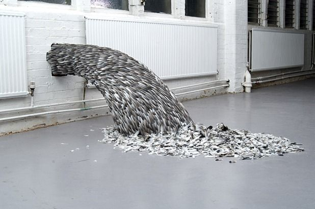feathers sculptures by kate mccgwire