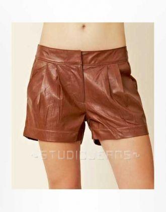 Leather Cargo Shorts Style # 360