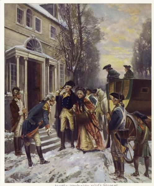 GEORGE WASHINGTON AFTER THE BATTLE OF TRENTON PAINTING WAR ART REAL CANVASPRINT