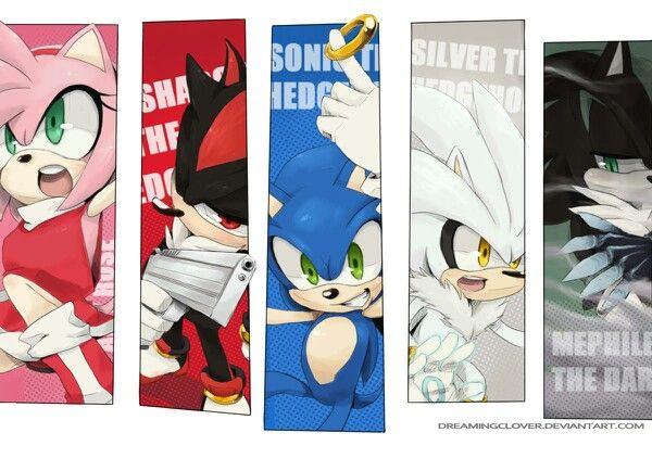Amy Shadow Sonic Silver Mephiles -Sonic | Sonic | Sonic art