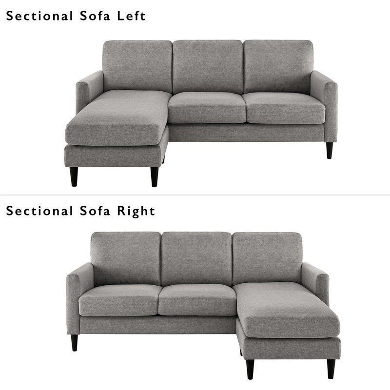 Cazenovia 82 Reversible Sectional Small Couch With Chaise Sofas For Small Spaces Small Couch