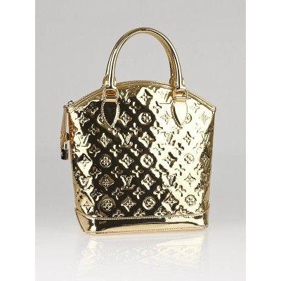 49eac23556c8 Louis Vuitton Limited Edition Gold Monogram Miroir Lockit Bag ...