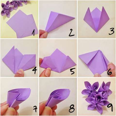 Photo of Origami Flower Drawing How to Fold A Paper Rose