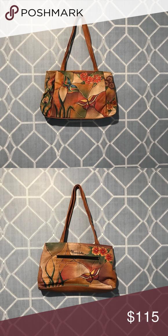 Anuschka Hand Painted Leather Bag Anuschka Hand Painted Leather Bag  Authentic hand-painted leather Good Condition Anuschka Bags Shoulder Bags d19d32b2f7
