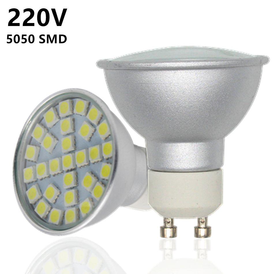 (12Pcs/lot) 5050 Aluminum Lampada LED Lamp 220V GU10