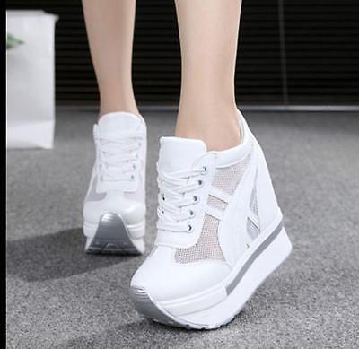 e6df47c3543b Plataforma Feminino Creepers Lona Cunhas Tênis Esportes Sandálias Sapatos  De Salto Alto