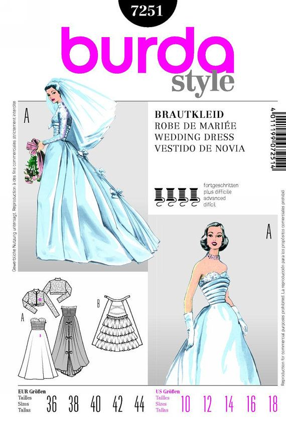 50s Inspired Wedding Dress Wedding Gown and by MissBettysAttic ...