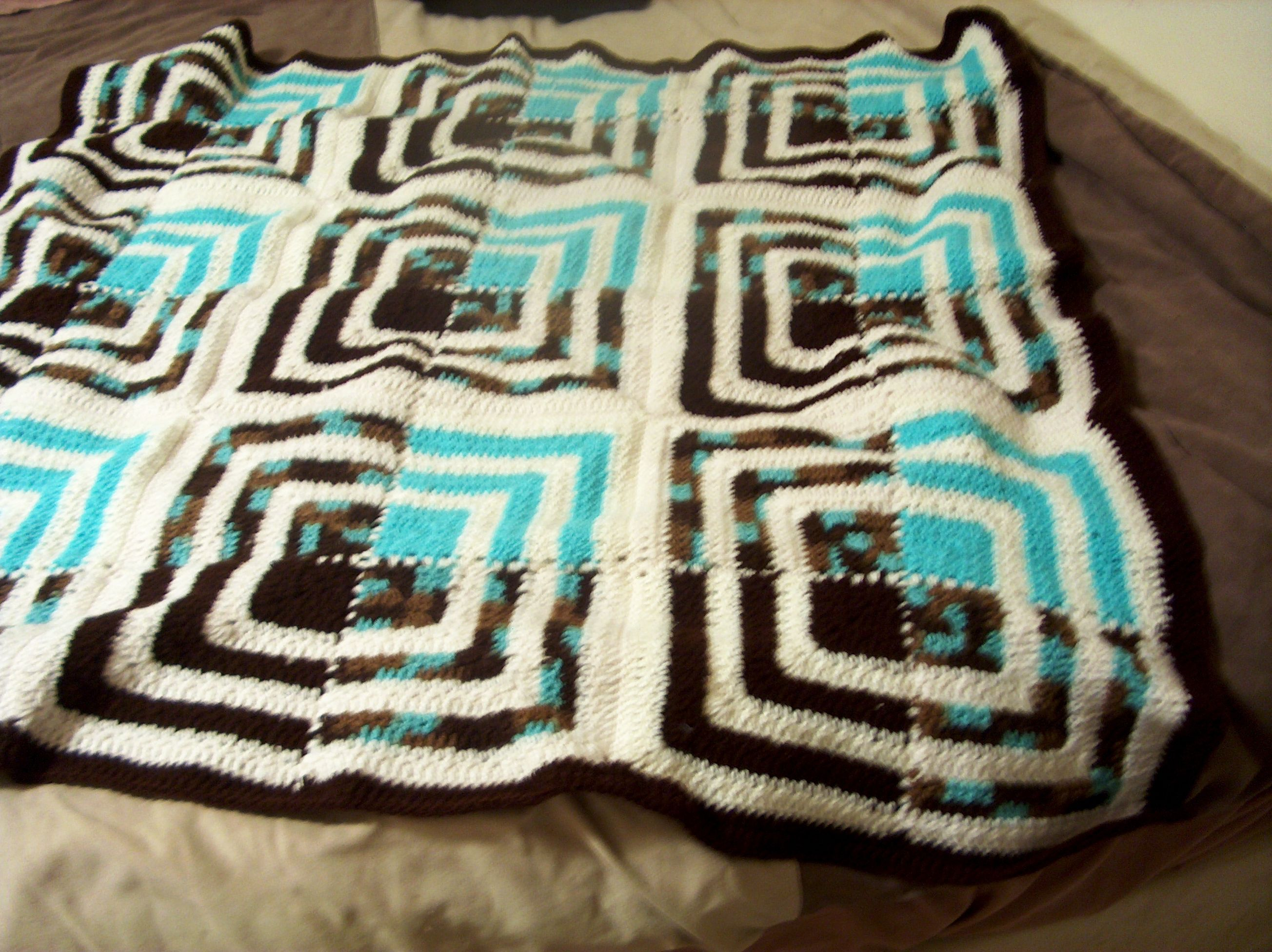 Rich squares pattern on redheart rich mitered crochet throw pattern on redheart rich mitered crochet throw bankloansurffo Gallery