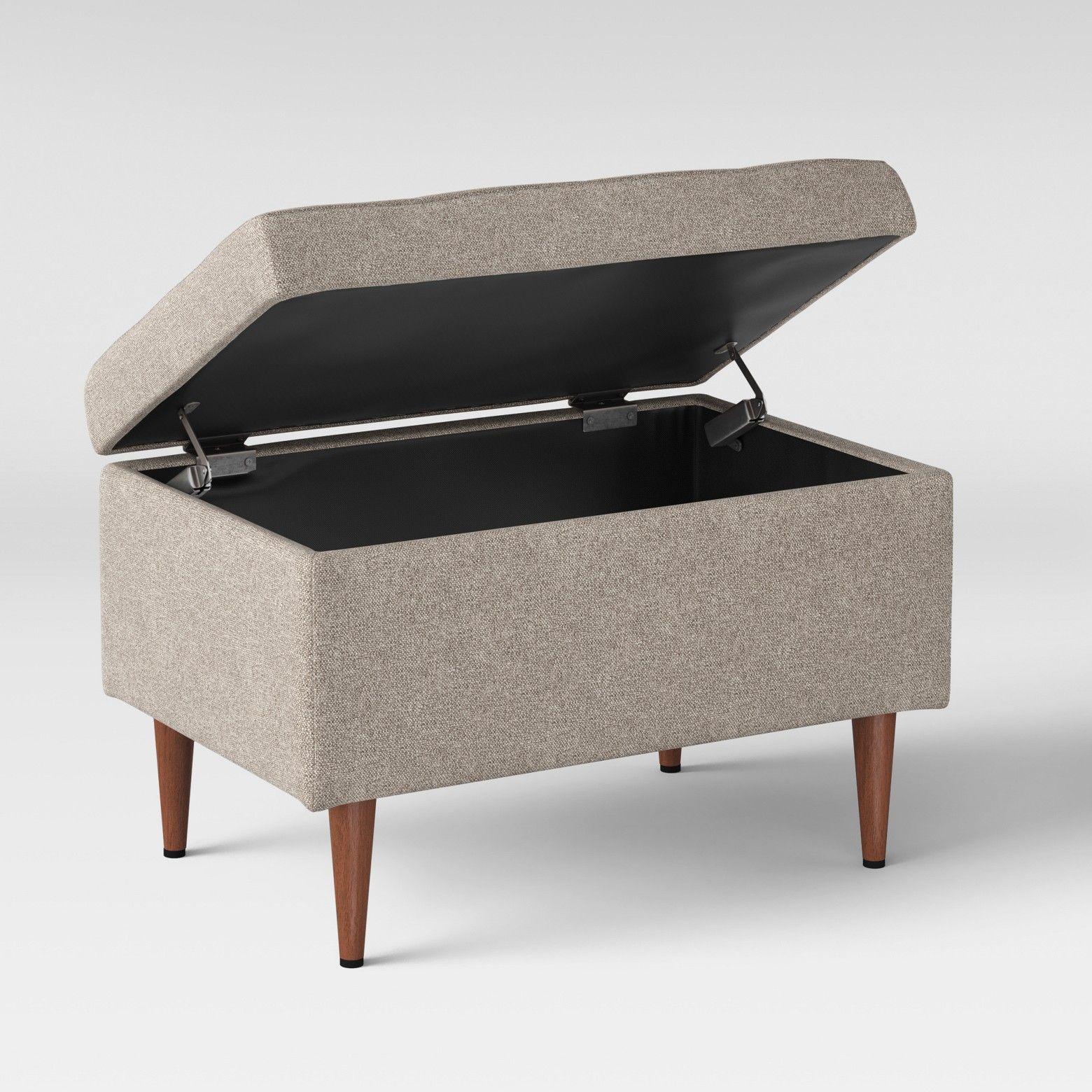 Sensational Lemoor Mid Century 28 Ottoman With Storage Gray Project Spiritservingveterans Wood Chair Design Ideas Spiritservingveteransorg