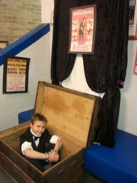 Harry Houdini wax museum for school project  | NEAT IDEAS