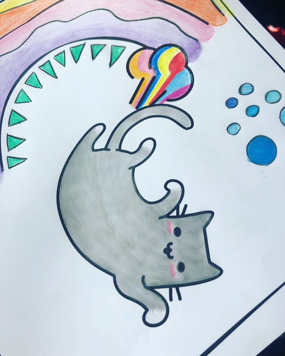 Omg I Have Bought A Colouring Book Cute Cats Farting It Is Amazing I M So Happy About My Rainbow Farting Cat Cat Day Coloring Books Cute Cats