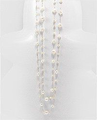 Elegant Pearl and Silver Silk Necklace $27.95 #topseller