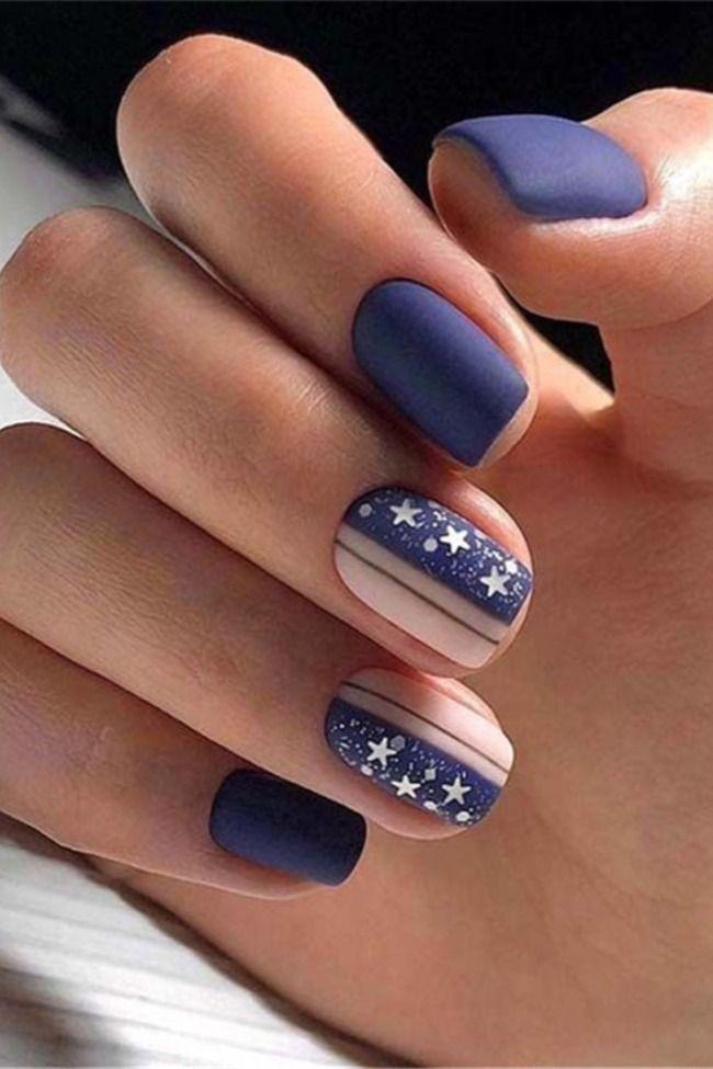 36 Short Gel Nails Art Design Take You N Makeup In 2020 Blue Nail Art Designs Gel Nail Art Designs Blue Nail Art