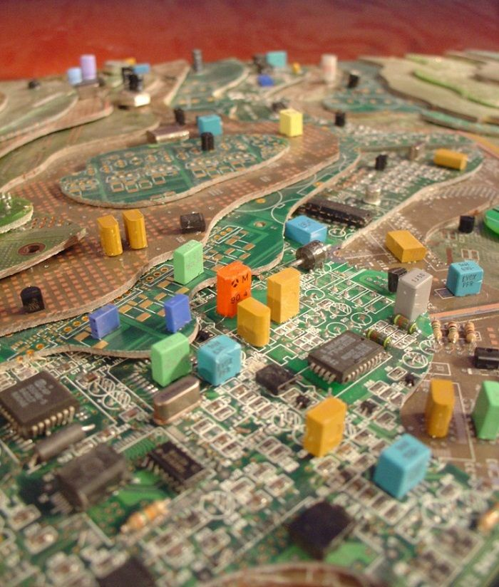 circuit board art | Art / Sculpture | Pinterest | Board art ...
