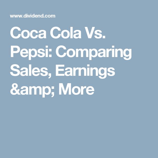 pepsi and coca cola comparison