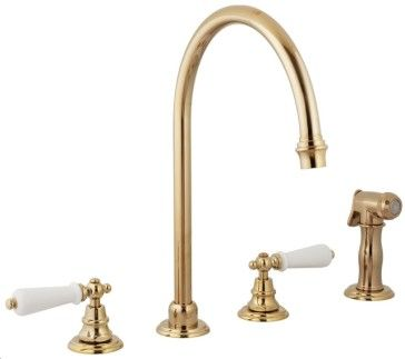 Harrington Brass 33 111 33 Mayfair 4 Hole Kitchen Faucet Includes