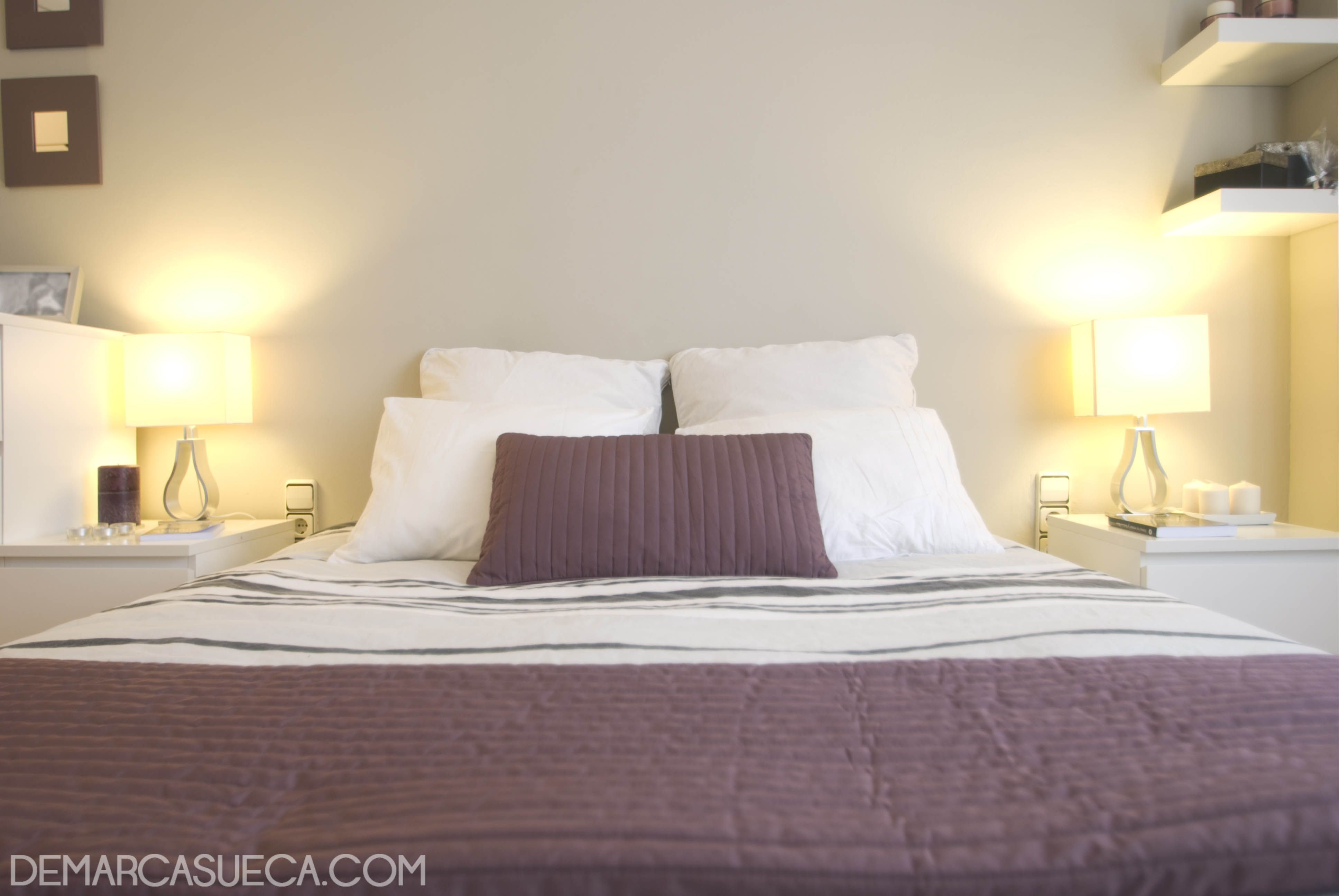 Habitaci N De Matrimonio Con Mobiliario Malm De Ikea Interiorismo  ~ Habitacion De Matrimonio Blanca