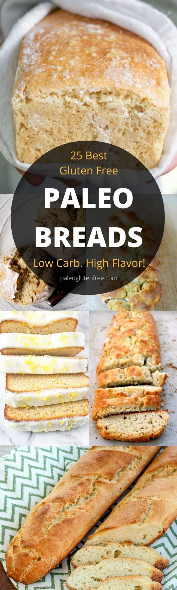 The best, most delicious PALEO Bread recipes. Easy crusty