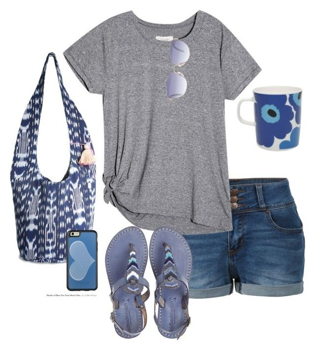 """""""Blue"""" by lawladyt on Polyvore featuring LE3NO, Lucky Brand, Christian Dior, OtterBox, Laidback London and Marimekko"""