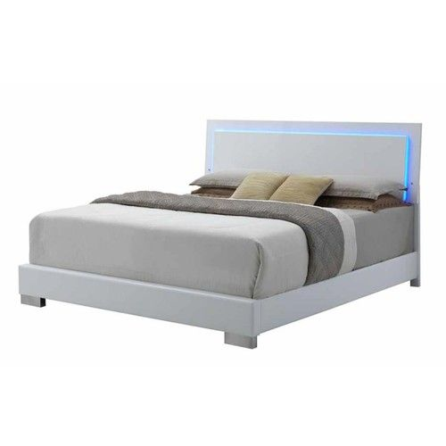 Glowing Queen Bed With Led Headboard 203500q Bedroom Sets Queen