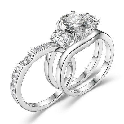 9f752d567 Find cheap wedding ring sets under 100 from our matching his and her bridal  sets collection! All ring sets support engravings. Free shipping and  returns are ...