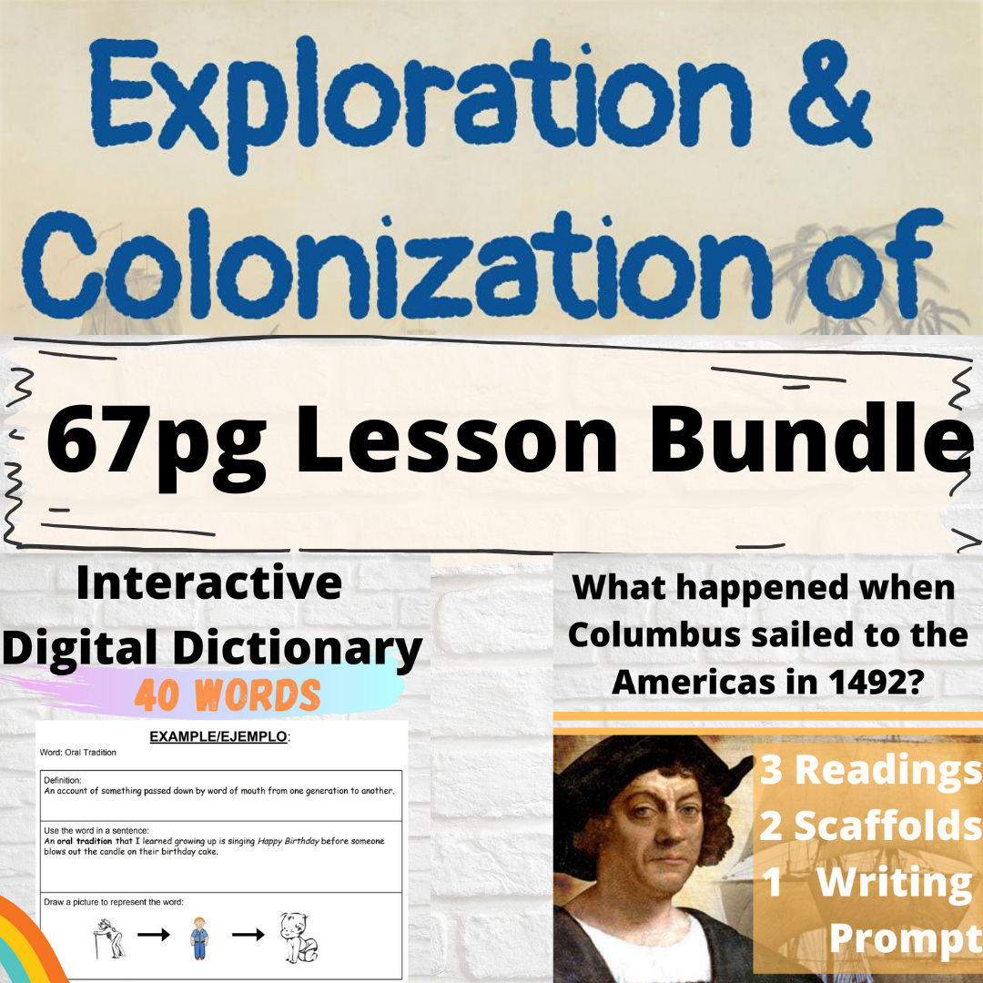 Exploration Columbus And Conquest Lesson Bundle In