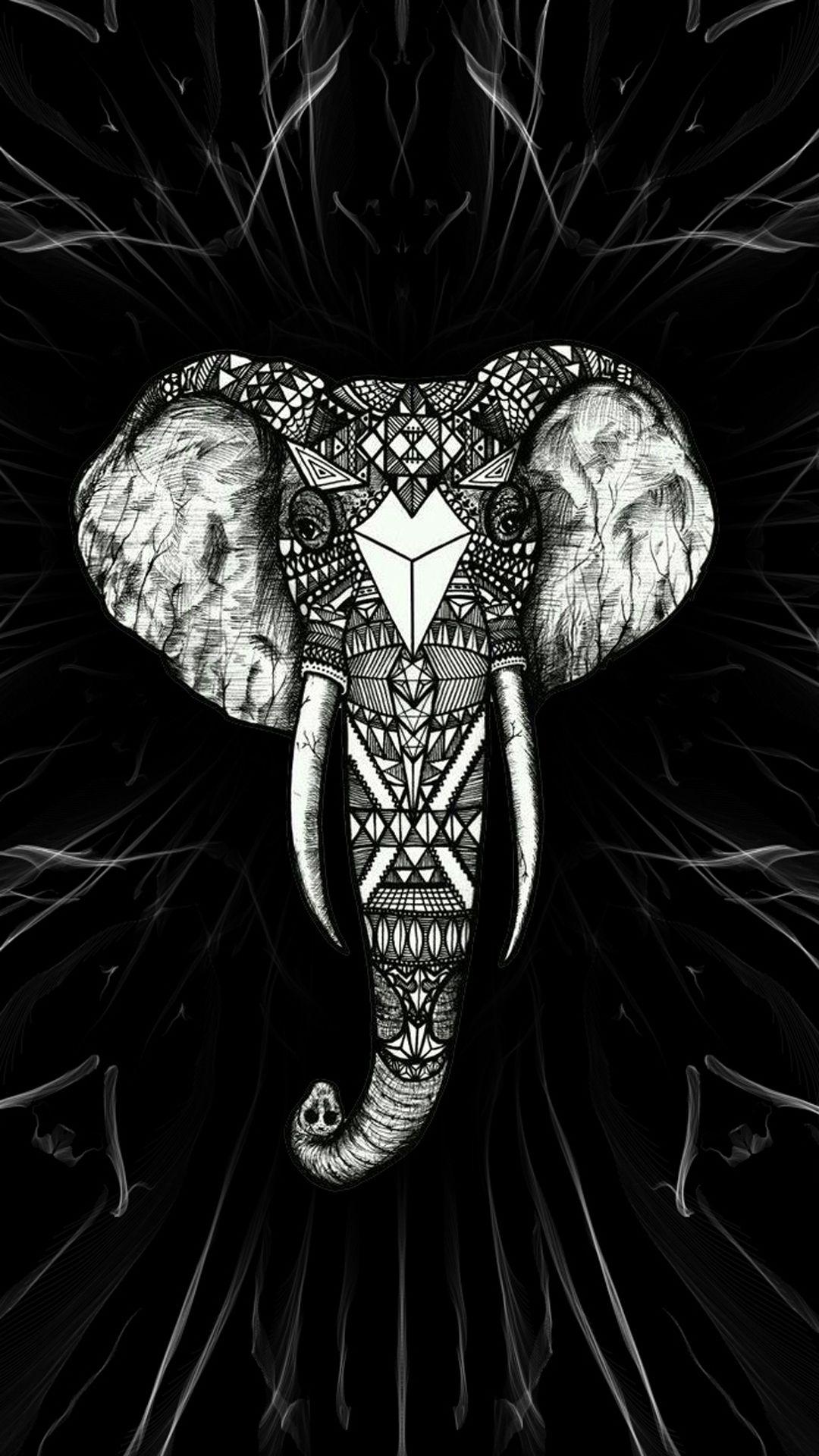 Elephant (With images) Elephant wallpaper, White iphone