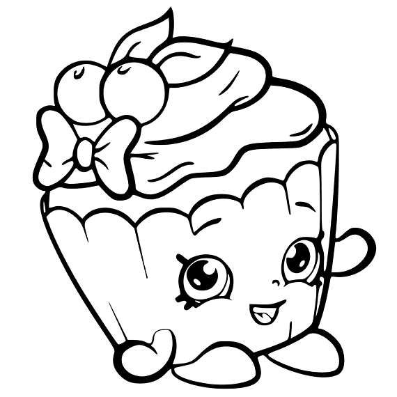 Shopkin Svg Shopkins Coloring Pages Free Printable Cupcake