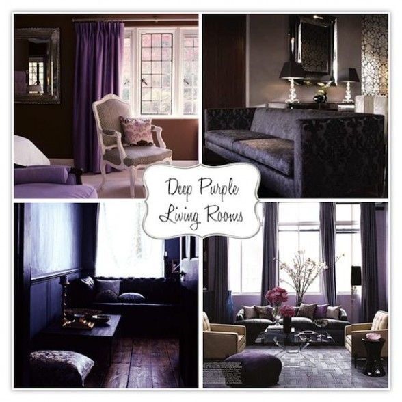 20 Purple Living Rooms