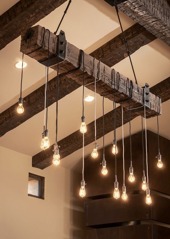 PHOTOS: 8 Unusual Lighting Ideas | Pinterest | Illuminazione, Legno ...