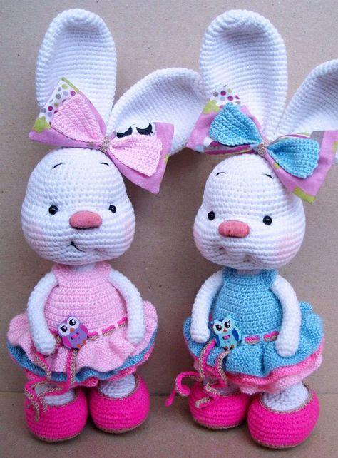 Pretty bunny amigurumi in dress   Pinterest   Amigurumi-muster ...