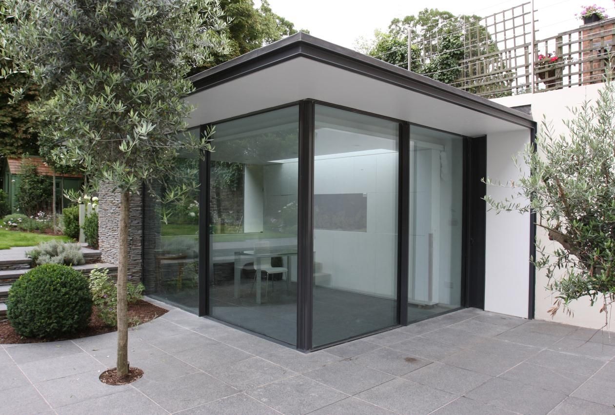 Contempory Garden Rooms Black Wood