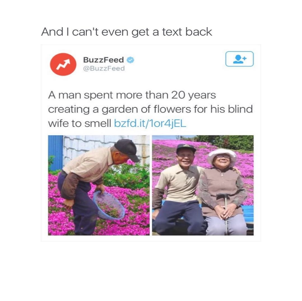 And I Cant Even Get A Text Back Buzzfeed Buzzfeed A Man Spent More Than 20 Years Creating A Garden Funny Mom Quotes Funny Pictures Funny Memes Sarcastic