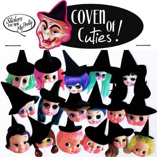 witch doll stickers cute big eye dolly girls by boopsiedaisy