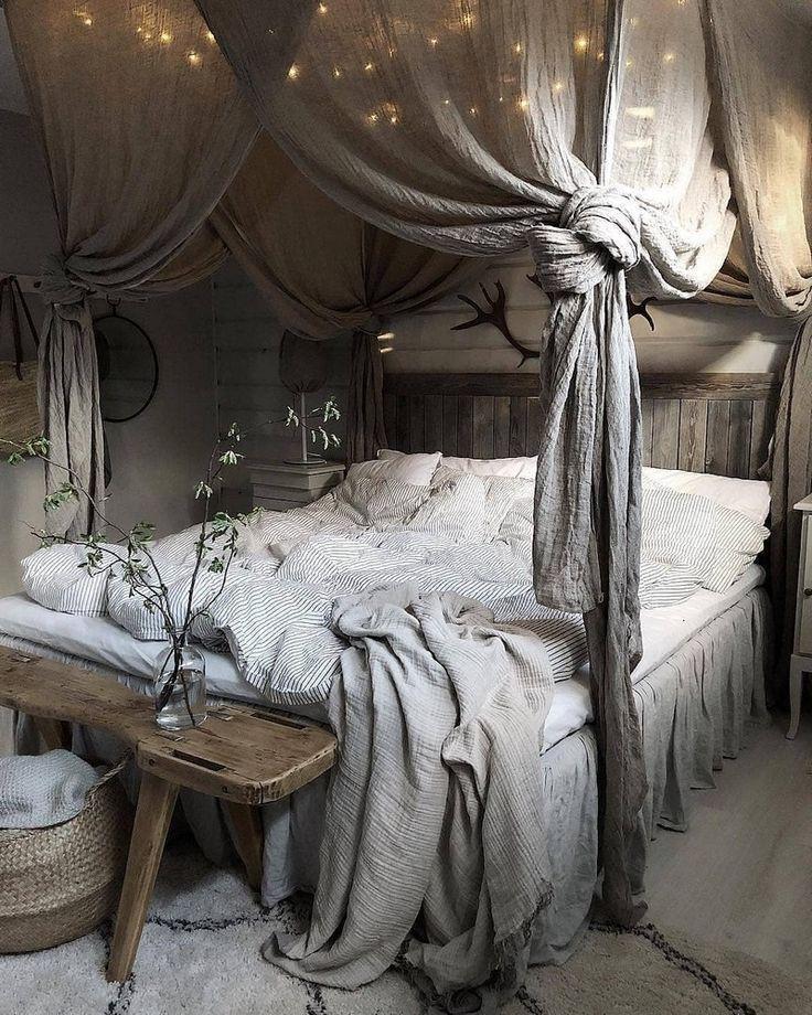 décor de chambre bohème et idées de design lit #Bett # Bohême #Dekor #DesignIdeen # h
