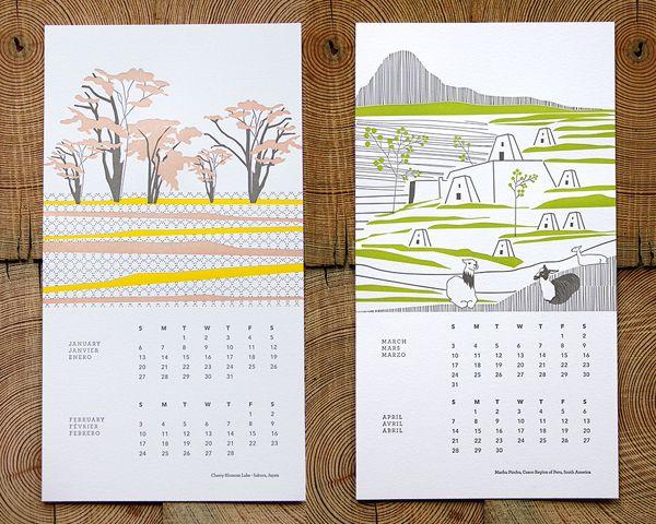 Get Inspired With Vaska Letterpress Calendar Design Cool Calendars